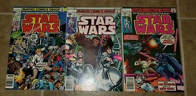 Star Wars # 2 3 6 Marvel Comics 1977 HIGH GRADE  First Printings