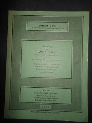 Sotheby's Auction Catalog ANTIQUITIES Greek Roman Jewelry Sculpture 1974 London
