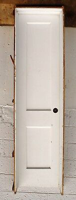 "PRE-HUNG 20""x80"" Antique Vintage Interior SOLID Wood Wooden Door Frame Hardware"