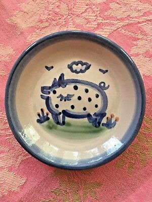 M A HADLEY Pottery ~ Country~  Pig Coaster