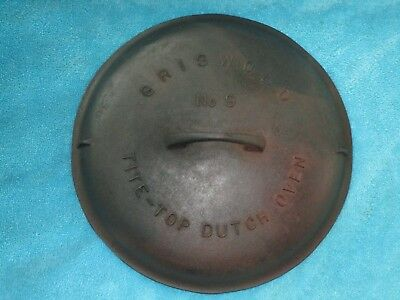 Griswold Cast Iron Dutch Oven Lid Tite-Top No. 9 Erie Pa. 2552 Pat. Feb. 10 1920