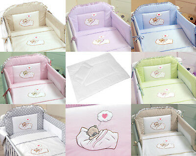 Luxury Embroidered Baby Canopy Bedding Set For Cot / Cot Bed+Duvet+Pillow+Canopy