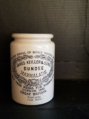 ANTIQUE James Keiller & Son's Dundee  Marmalade Crock Jar Container  GB.