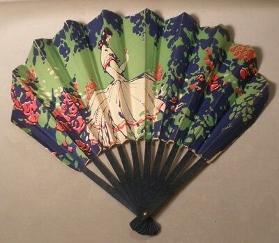 French Deco Advertising Fan for Panama Shop