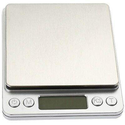 Mini Digital Scale Stainless Steel Platform Blue Display with Tray [3kg - 0.1g]