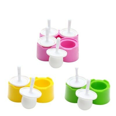 1 Set DIY Popsicle Silicone Mold Jelly Lollipop Maker Non-Stick Easy to clean