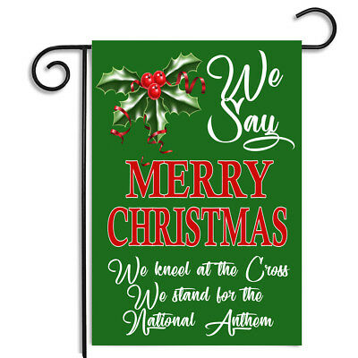 CafePress We Say Merry Christmas Car Magnet 1208838179