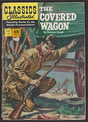 Vintage British Classics Illustrated:THE COVERED WAGON/HOUGH No.19 HRN126 1/3