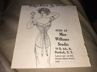 Vintage They Lace Up In Front Sold By Miss Williams Studio,dunkirk,ny Ad