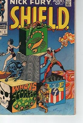 Marvel Comics, Nick Fury, Agent Of Shield 1 (1968) G+/vg-, Steranko