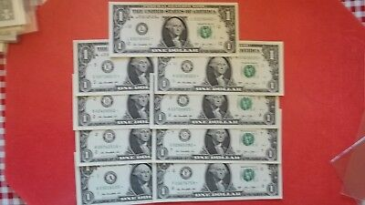One Dollar U. S. FRN Series 2013 Series Star notes, complete set