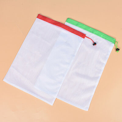 2pcs Mesh Durable Polyester Bags for Supermarket Shopping Storage Send Randomly