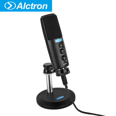 Alctron CU58 USB Condenser Microphone Desktop Broadcasting for Cellphone Laptop