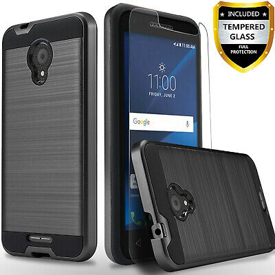 For Alcatel Raven LTE Phone Case, Shockproof Cover+Glass Screen Protector+Pen