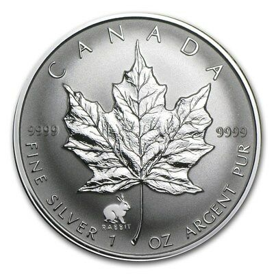 1999 Canada Year of the Rabbit $5 1 OZ 9999 Fine Silver Coin