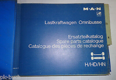Spare Parts List Man Truck Buses H / HD /Hn Rear Axle Stand 07/1976