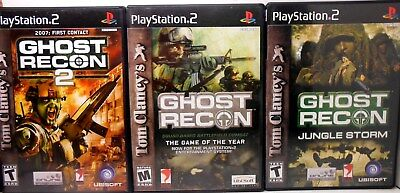 Tom Clancys Ghost Recon 1 And 2 Plus Jungle Storm, Mint Condition, Complete