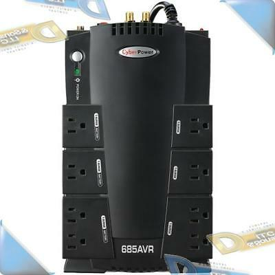 NEW Cyberpower AVR Series UPS Battery Backup Surge Protector 685VA/390W