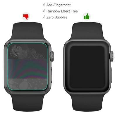 FINENIC Apple Watch Series 1/2/3 Tempered Glass Screen Protector Black