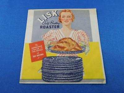 Lisk Self Basting Oval Roaster Pan Advertising Instruction Brochure Flyer