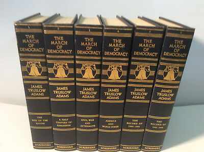 The March of Democracy   James Truslow Adams  6 Volume set Scribners