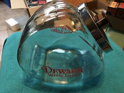 Rate Vintage Dewar's White Label Scotch Cookie Or Snack Jar With Lid