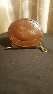 Vintage DOONEY & BOURKE Big Duck Coin Change Purse Wallet dark Green