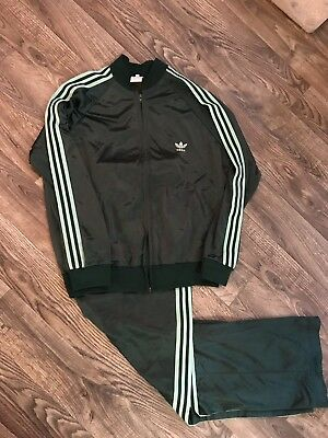 vintage 1970s Adidas Mens XL Track Suit Green Rare