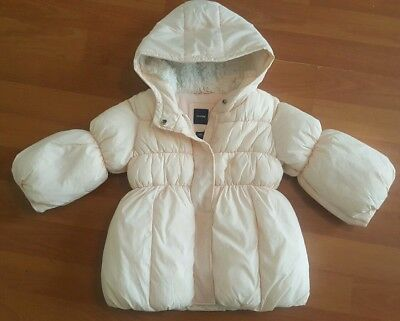75ad49f14563 VGUC BABY GAP Girls Yellow Butterfly Lined Jacket Dress Coat Size 12 ...