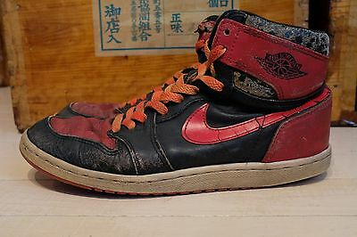 6f219582eb9a VINTAGE 1985 NIKE Air Jordan 1 BRED Banned Original OG Authentic ...