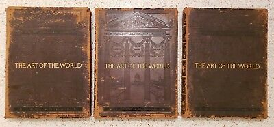 The Art Of The World Exposition Rare Antique 1895 Lot 3 Huge Hardcover Volumes