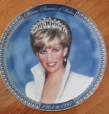 Princess Diana Franklin Mint Tribute Plate