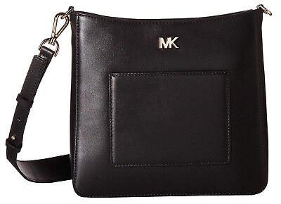 40a2892b3fd7a5 MICHAEL KORS GLORIA Leather Pocket Swing Pack Crossbody in Black ...