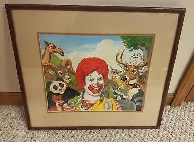 RONALD MCDONALD painting with Animals, Original One of a kind piece,SEE PICTURES