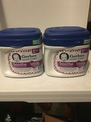 2 Tubs GERBER GOOD START SOOTHE INFANT BABY FORMULA 22.2 OZ EACH Free Shipping