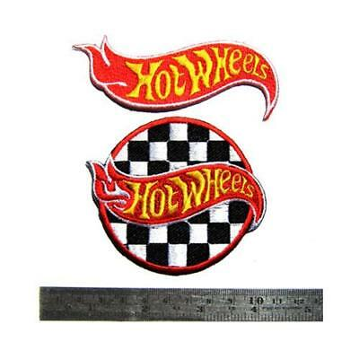 2 x Hot Wheels Drag Car Nos NHRA Turbo Racing Jacket Iron On Patch