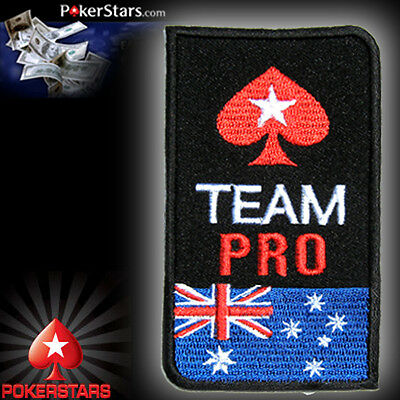 Australia TEAM PRO POKERSTARS POKER CASINO Iron on Shirt Suit Patch