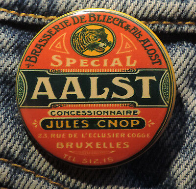 Pin Button Badge Ø38mm ( Ancienne bière - Bier - Beer ) ALOST #3