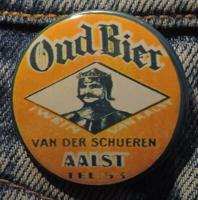Pin Button Badge Ø38mm ( Ancienne bière - Bier - Beer ) ALOST #8