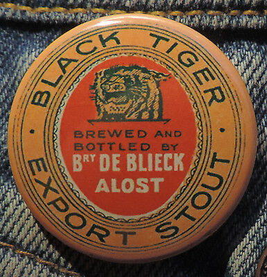 Pin Button Badge Ø38mm ( Ancienne bière - Bier - Beer ) ALOST #9