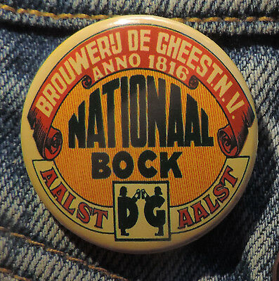 Pin Button Badge Ø38mm ( Ancienne bière - Bier - Beer ) ALOST #11