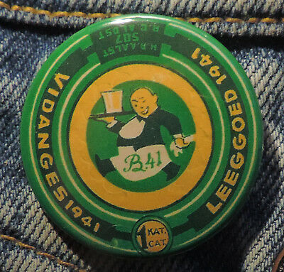 Pin Button Badge Ø38mm ( Ancienne bière - Bier - Beer ) ALOST #12