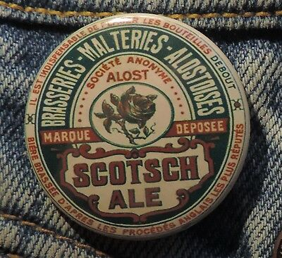 Pin Button Badge Ø38mm ( Ancienne bière - Bier - Beer ) ALOST #16