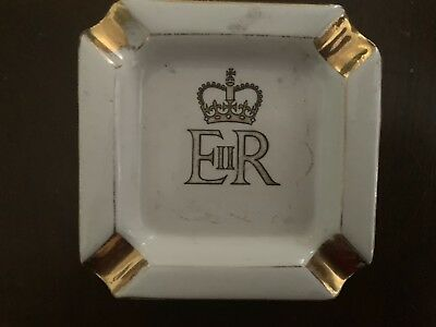 Queen Elizabeth(EIIR)Small Ashtray By C.R.Hose China(?),Australia.