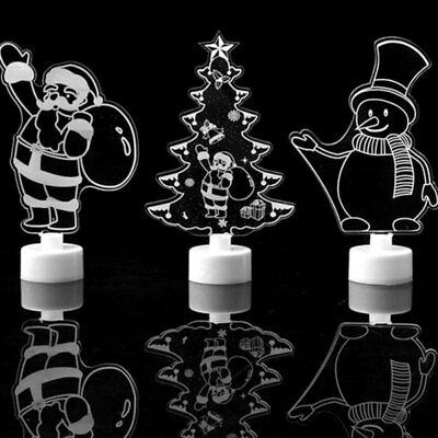 Colors Changing LED Night Light Table Lamp Christmas Xmas Gift Party Home Decor