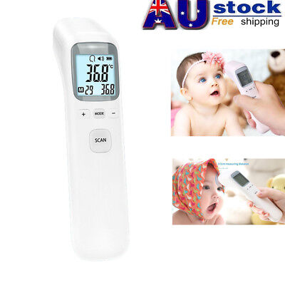 Baby Adult Professional Digital Infrared Forehead Ear Thermometer Memory Recall
