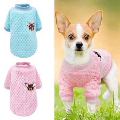UK Dog Knitted Jumper Embroidery Chihuahua Clothes Pet Puppy Sweater for Yorkie
