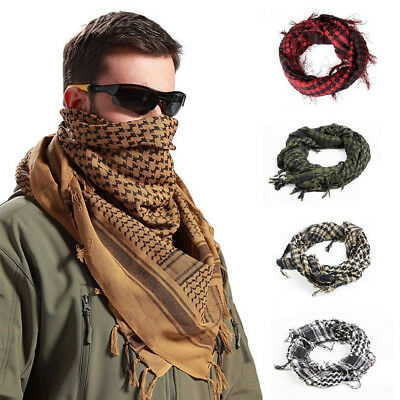 HK- Men Fashion Outdoor Tactical Muslim Long Soft Nylon Windproof Shawl Scarf Co