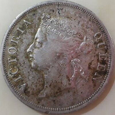 Straits Settlement Queen Victoria 1900 50 Cents - XF