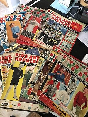 Job Lot Of Old Magazines Pins And Needles
